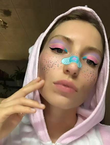 Unicorn makeup sociala medier