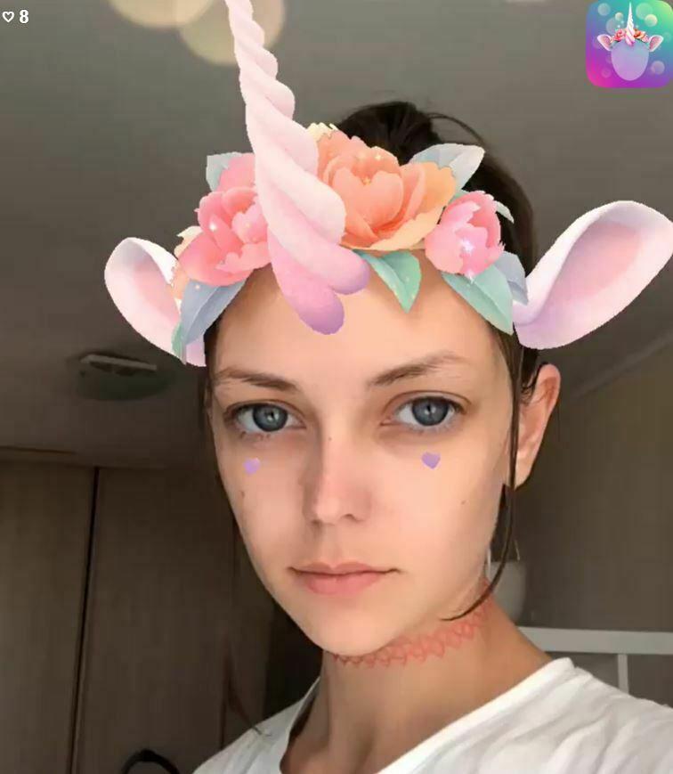 Unicorn horn sociala medier