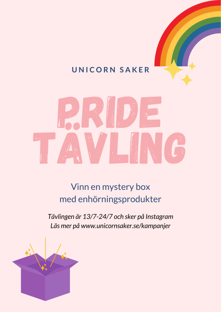 Pride tävling Unicorn saker