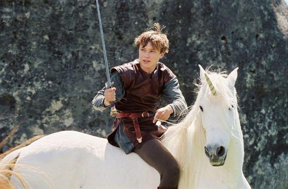 Narnia häxan och lejonet, Peters enhörning, unicorn