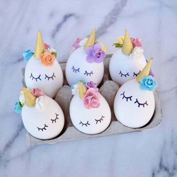 Påsk pyssel påsk ägg, unicorn