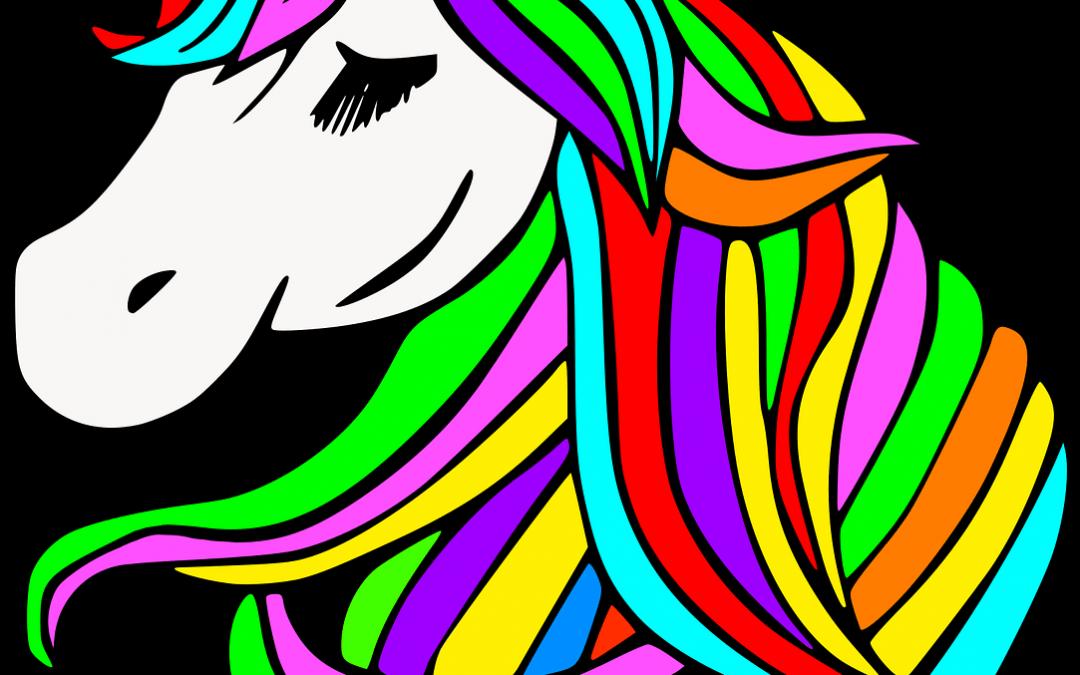 12 gratis bilder på enhörningar att färglägga
