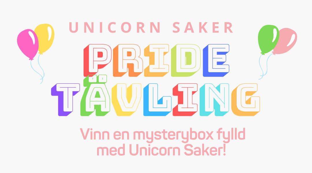 Tävling med Unicorn saker årets pride 2021